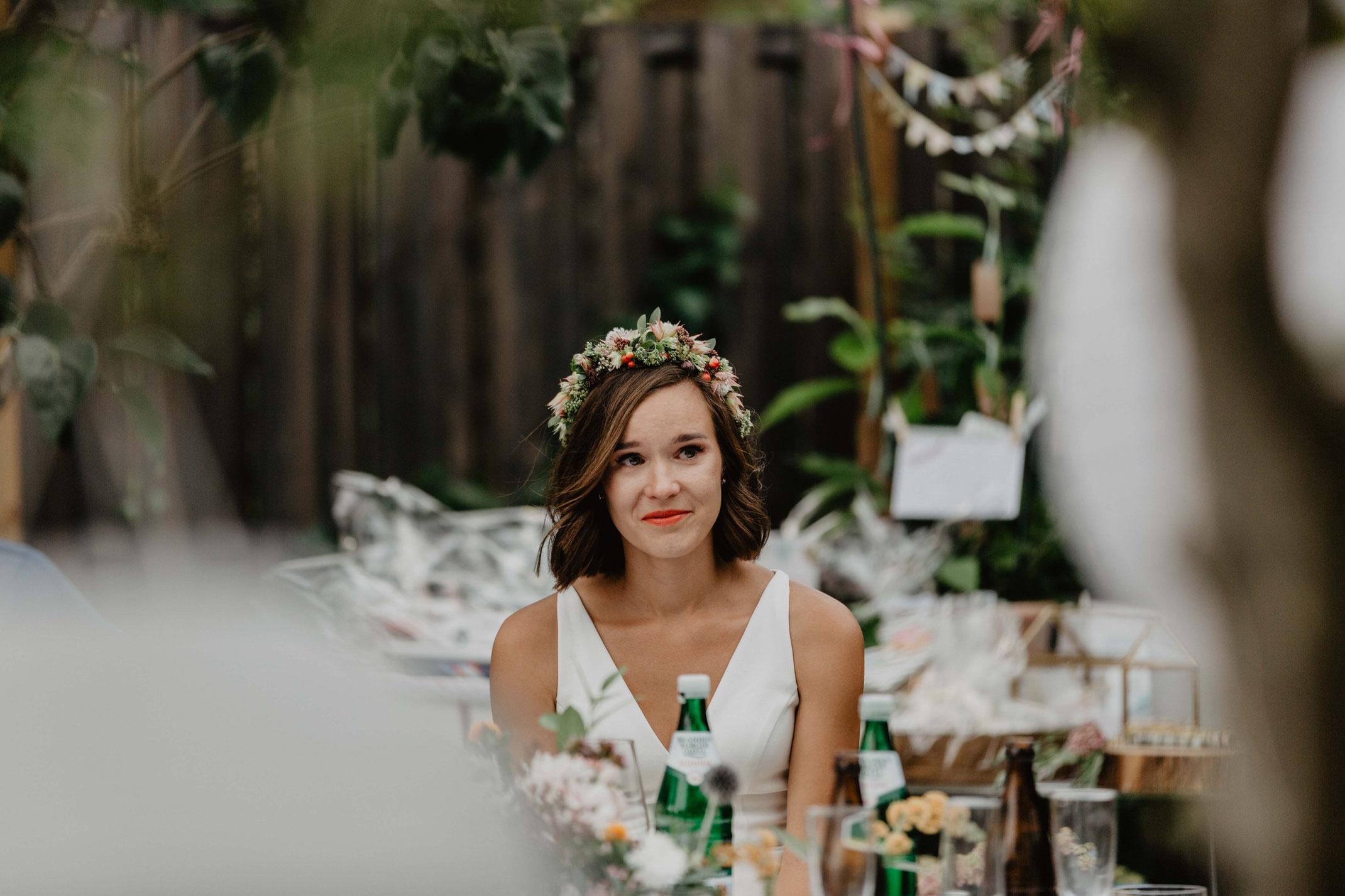 Hochzeitsfotograf Eichwalde fotografiert Gartenhochzeit Hochzeit in Eichwalde