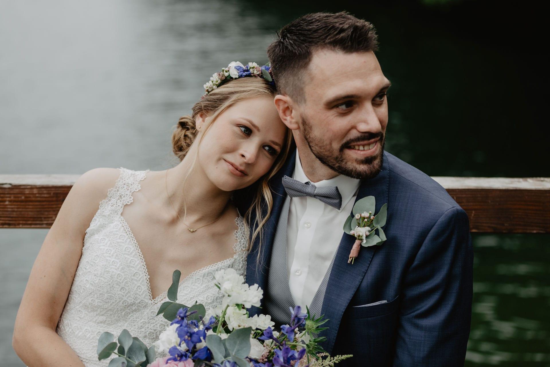 Hochzeitsfotos am See in Biesenthal Strandbad Wukensee Hochzeitsfotograf