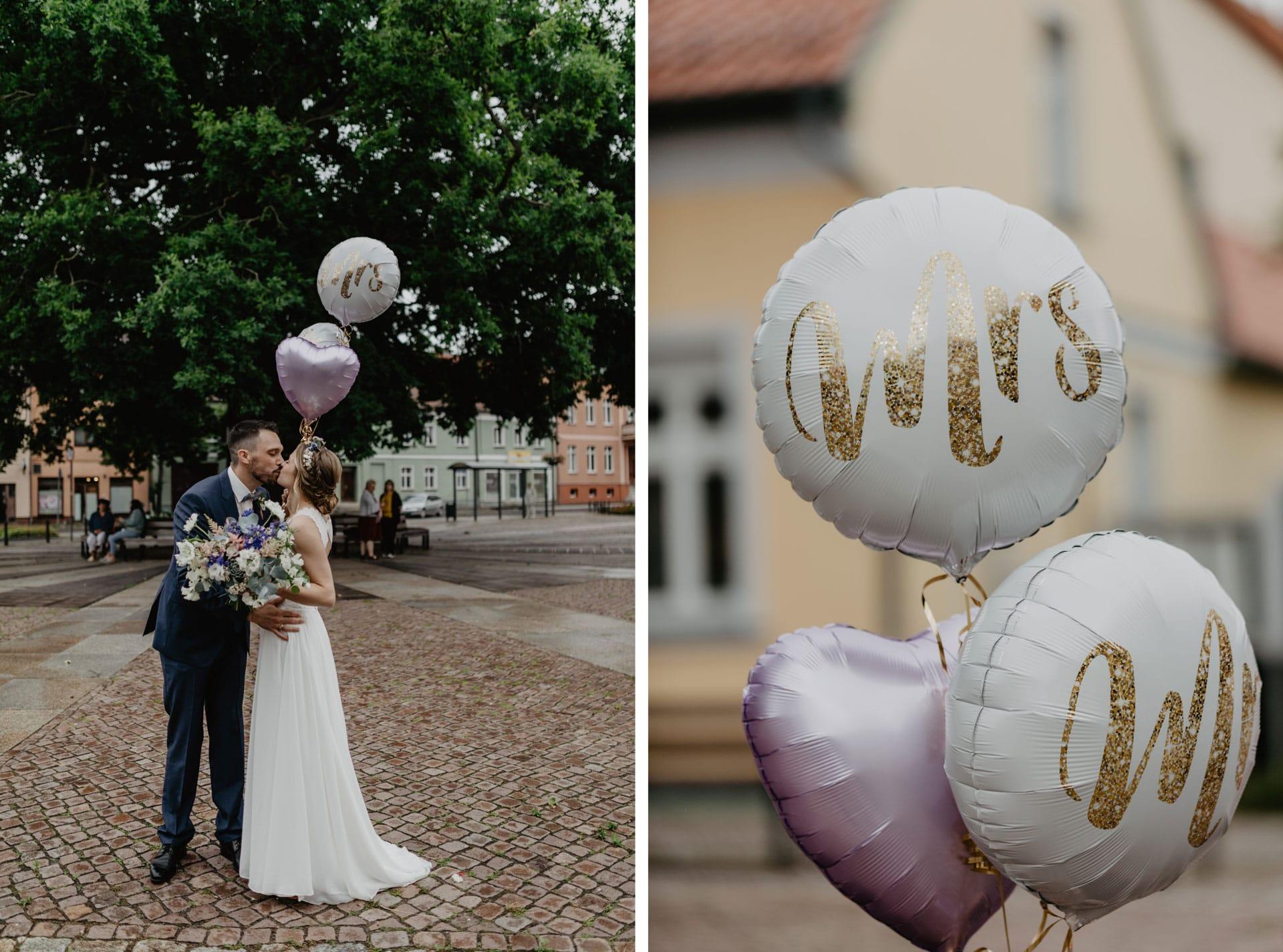 Brautpaar bei Hochzeit in Biesenthal