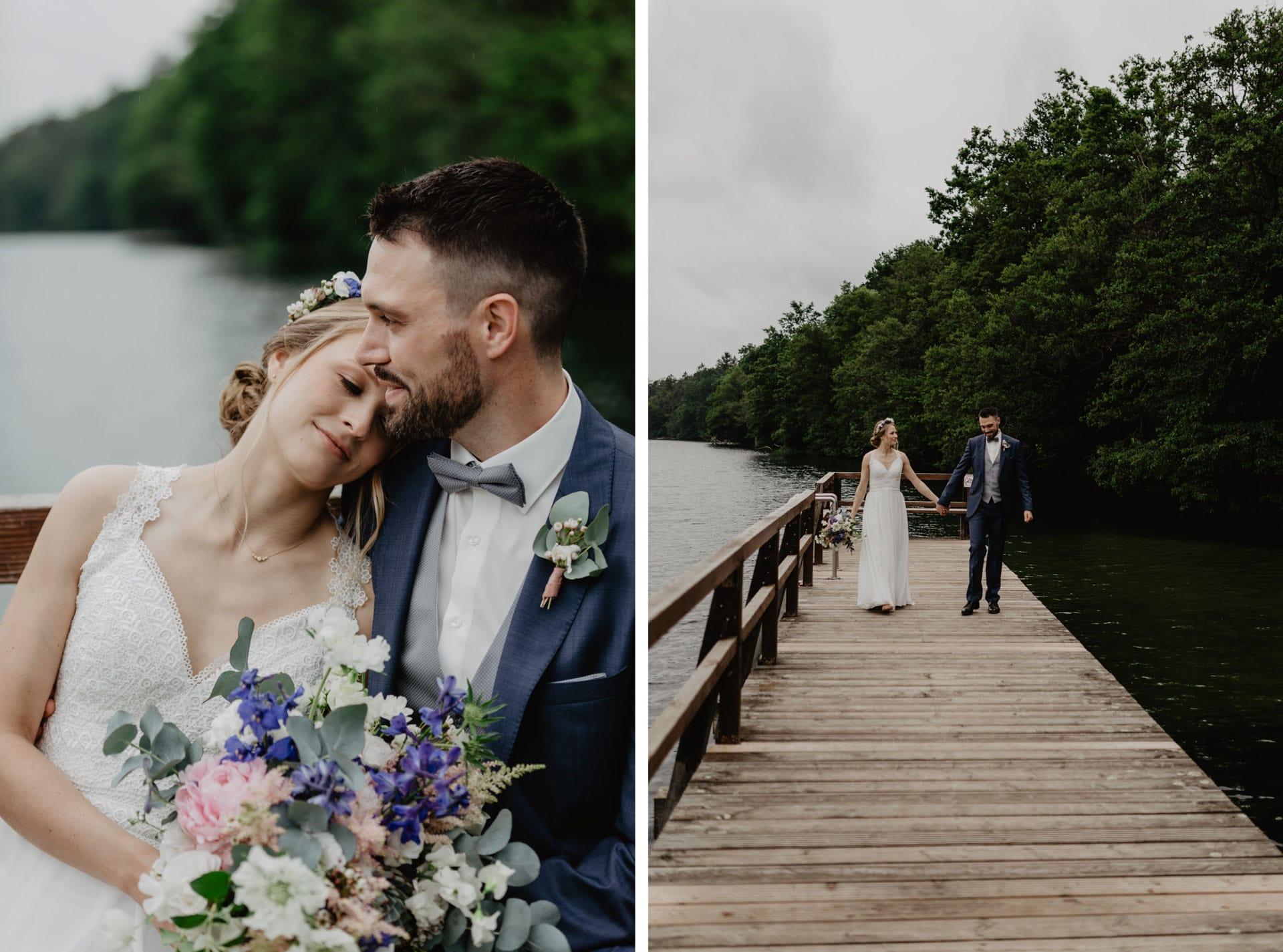 Hochzeitsfotos von Brautpaar am Wukensee in Biesenthal See bei Berlin