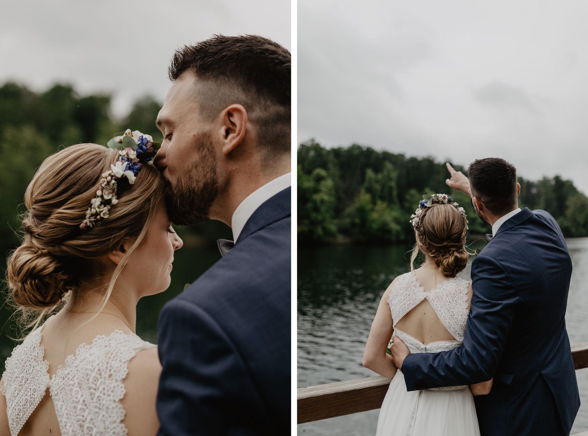 Hochzeitsfotos am Wukensee in Biesenthal bei Berlin